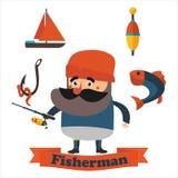 Плоский рыболов деда Стоковые Изображения RF