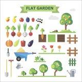 Плоский сад бесплатная иллюстрация