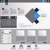 Плоский современный шаблон вебсайта Стоковое Фото