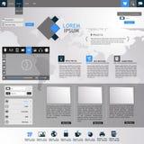 Плоский современный шаблон вебсайта Стоковое Изображение RF