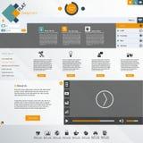 Плоский современный шаблон вебсайта Стоковое Изображение