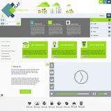Плоский современный шаблон вебсайта Стоковые Изображения