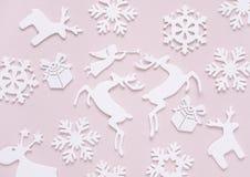 Плоский состав рождества положения Стоковая Фотография
