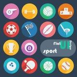 Плоский установленный значок дизайна - спорт Стоковая Фотография