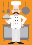Плоский шеф-повар вектора Стоковая Фотография RF