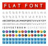 Плоский шрифт Стоковые Изображения RF