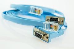 2 плоских кабеля для обслуживания консоли сетевых приборов Стоковые Фотографии RF