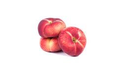3 плоских персика Стоковая Фотография RF