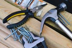 Различные инструменты для работы. Стоковая Фотография RF