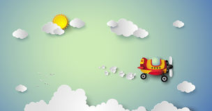 Плоское летание на небе бесплатная иллюстрация