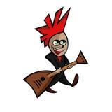 Плоское изображение малого коромысла с гитарой иллюстрация штока