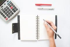 Плоское положение концепции бухгалтерии на белой предпосылке Стоковая Фотография RF