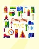 Плоское располагаясь лагерем время Стоковые Изображения
