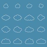 Плоское собрание cloudscapes дизайна Стоковые Фотографии RF