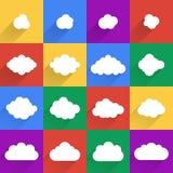Плоское собрание cloudscapes дизайна Стоковое Изображение RF
