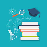 Плоское содержание образования Стоковое Изображение