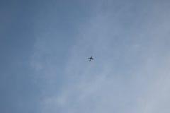 Плоскость на небе Стоковая Фотография