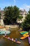 Плоскодонки на реке, Оксфорде Стоковое Изображение