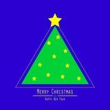 плоско рождество моя версия вектора вала портфолио Зеленый треугольник Стоковое Фото