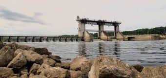 Плотина Belfeld (Нидерланды) Стоковые Фотографии RF