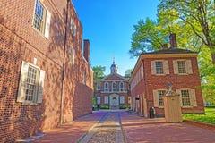 Плотники Hall в старом городе PA Филадельфии Стоковое Фото