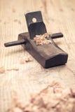 Плотничество малого деревянного крупного плана planer Стоковое Изображение RF