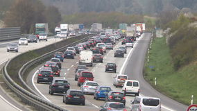 Плотное движение на немецком шоссе A3 акции видеоматериалы