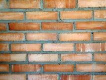 плотное строение кирпича вверх по стене Стоковое фото RF