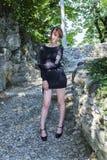 Плотное черное платье Стоковые Фотографии RF