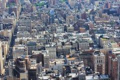 Плотность Нью-Йорка в Манхаттане стоковое изображение