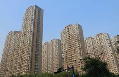 Плотность Ханчжоу Китай жилой квартиры городская стоковое фото