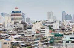 Плотные здания в большом городе Бангкока Стоковые Фото
