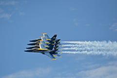 плотный боевой порядок сини ангелов Стоковые Фото