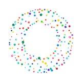 Плотный confetti акварели на белой предпосылке Стоковые Фотографии RF