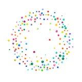 Плотный confetti акварели на белой предпосылке иллюстрация штока
