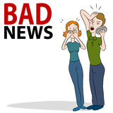 Плохая новость Phonecall Стоковое Фото