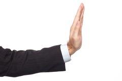 плохая ложная рука жеста не значит нет Стоковые Фотографии RF