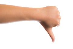 плохая ложная рука жеста не значит нет Стоковое Изображение