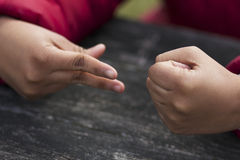 плохая ложная рука жеста не значит нет Стоковая Фотография