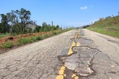Плохая дорога в США Стоковая Фотография RF