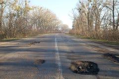 Плохая дорога Стоковое Фото