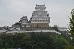 Плохая погода на замке Японии 2015 Himeji Стоковое Фото