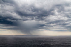 Плохая погода на озере Ladoga Стоковые Изображения
