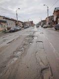 Плохая русская дорога Стоковые Фотографии RF