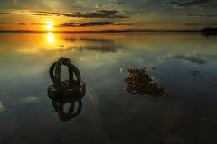 Плохие автошины на aru Tanjung приставают к берегу, Labuan Малайзия 01 Стоковая Фотография RF