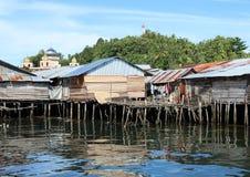Плохие дома над морем Стоковое Изображение