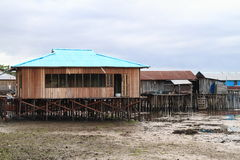 Плохие дома над морем Стоковые Фотографии RF