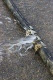 Плохое соединение трубы, утечка трубы Стоковые Фото