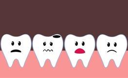 плохой изолированный иллюстрацией зуб стоматологии 3d Стоковая Фотография RF