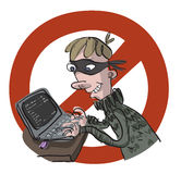 Плохой хакер Стоковое Изображение